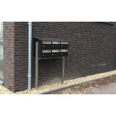 Brievenbusunit Brickset met statief 2-breed 2-hoog met dak - antraciet
