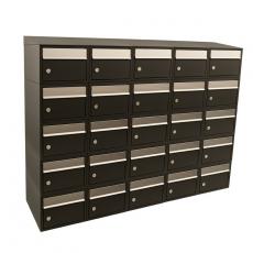 Brievenbusunit Brickset 5-breed 5-hoog met dak - zwart