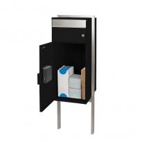 MYPO Slimme pakketbrievenbus vrijstaand - zwart