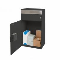 MYPO slimme pakketbrievenbus wandmodel - antraciet metallic/RVS