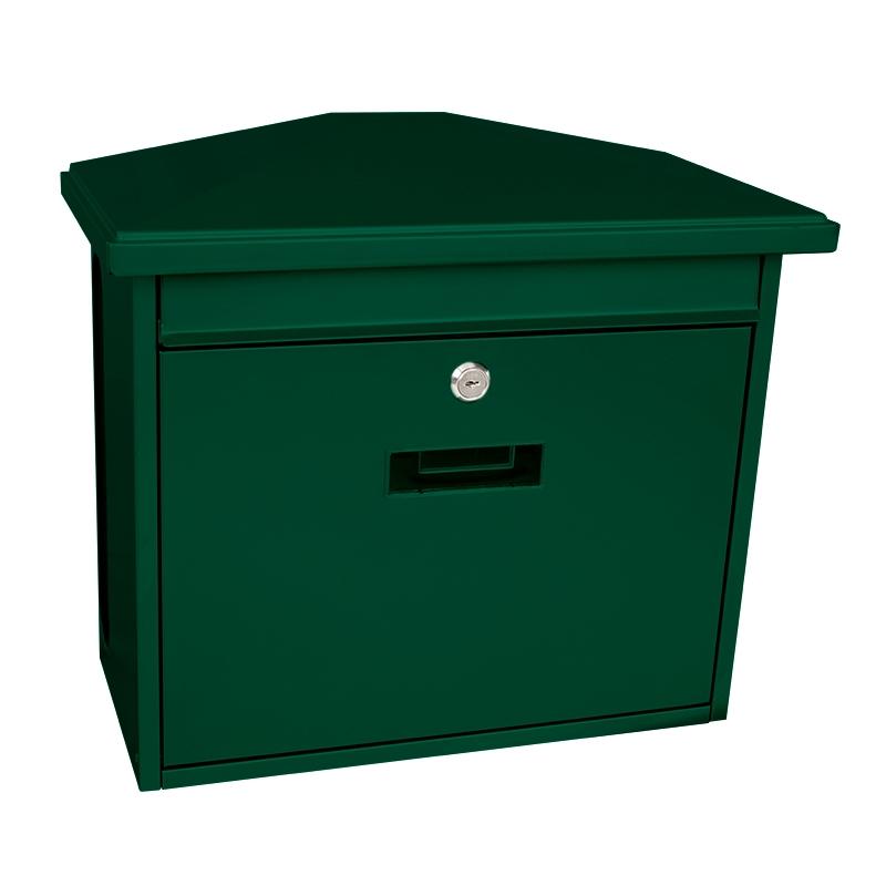 Basic wandbrievenbus met krantenvak Zamoran - groen