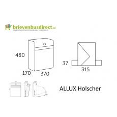 Design brievenbus Allux Holscher zwart