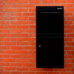 Pakketbrievenbus Logixbox Frontbox DeLuxe Uni - zwart