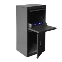 Pakketbrievenbus Logixbox Frontbox DeLuxe Uni - grijs