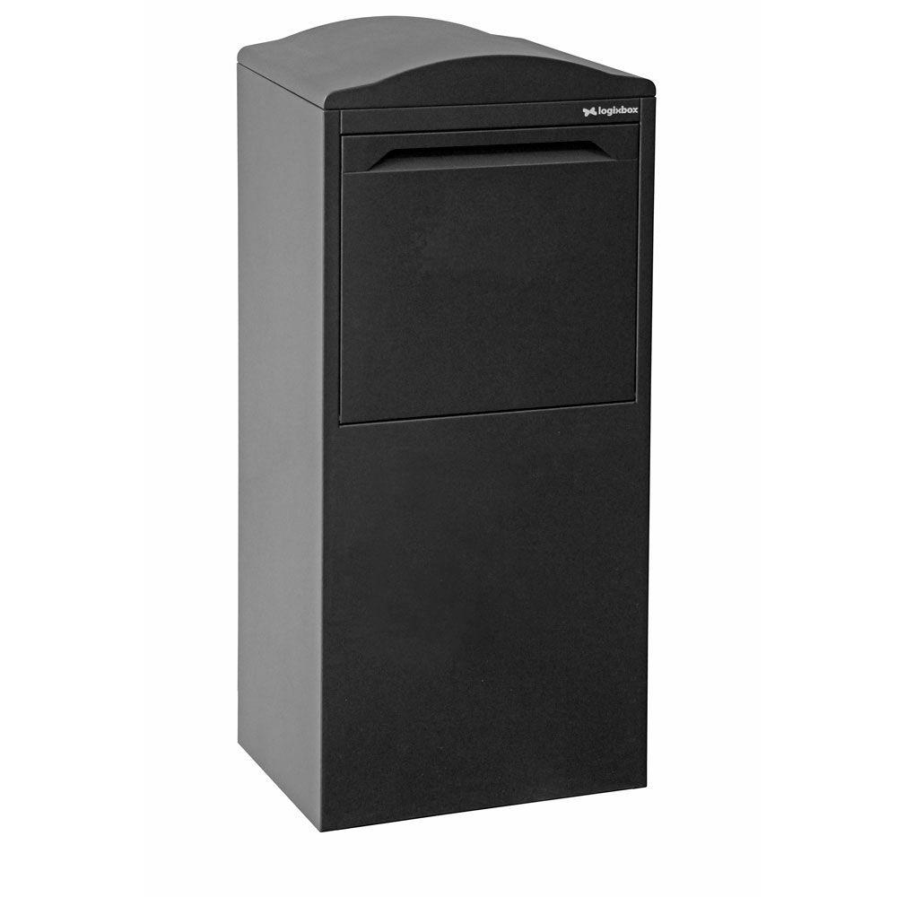 Pakketbrievenbus Logixbox Frontbox Uni achteruitname - grijs