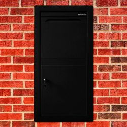 Pakketbrievenbus Logixbox Frontbox Uni Inbouw - zwart