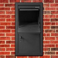Pakketbrievenbus Logixbox Frontbox Uni Inbouw - grijs