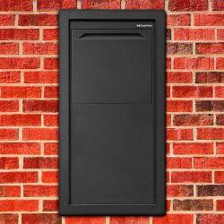 Pakketbrievenbus Logixbox Frontbox Uni Inbouw achteruitname - grijs