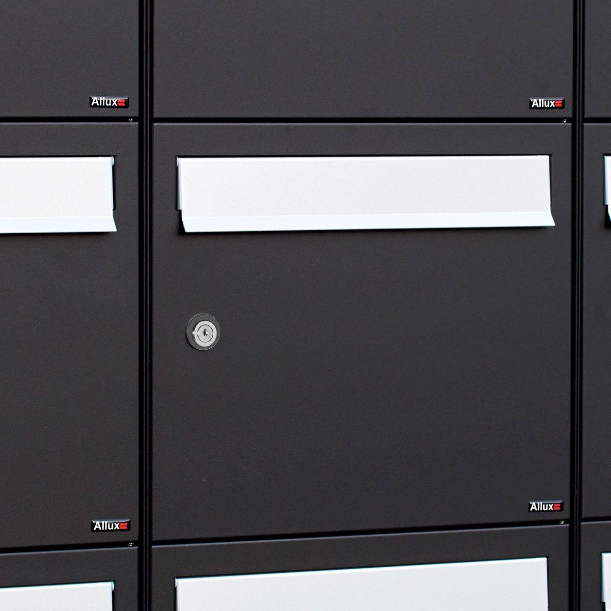 Postkastsysteem Allux Flow - zwart