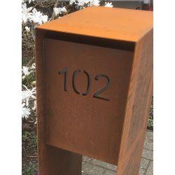 Uitlaseren van huisnummer in Geroba brievenbus