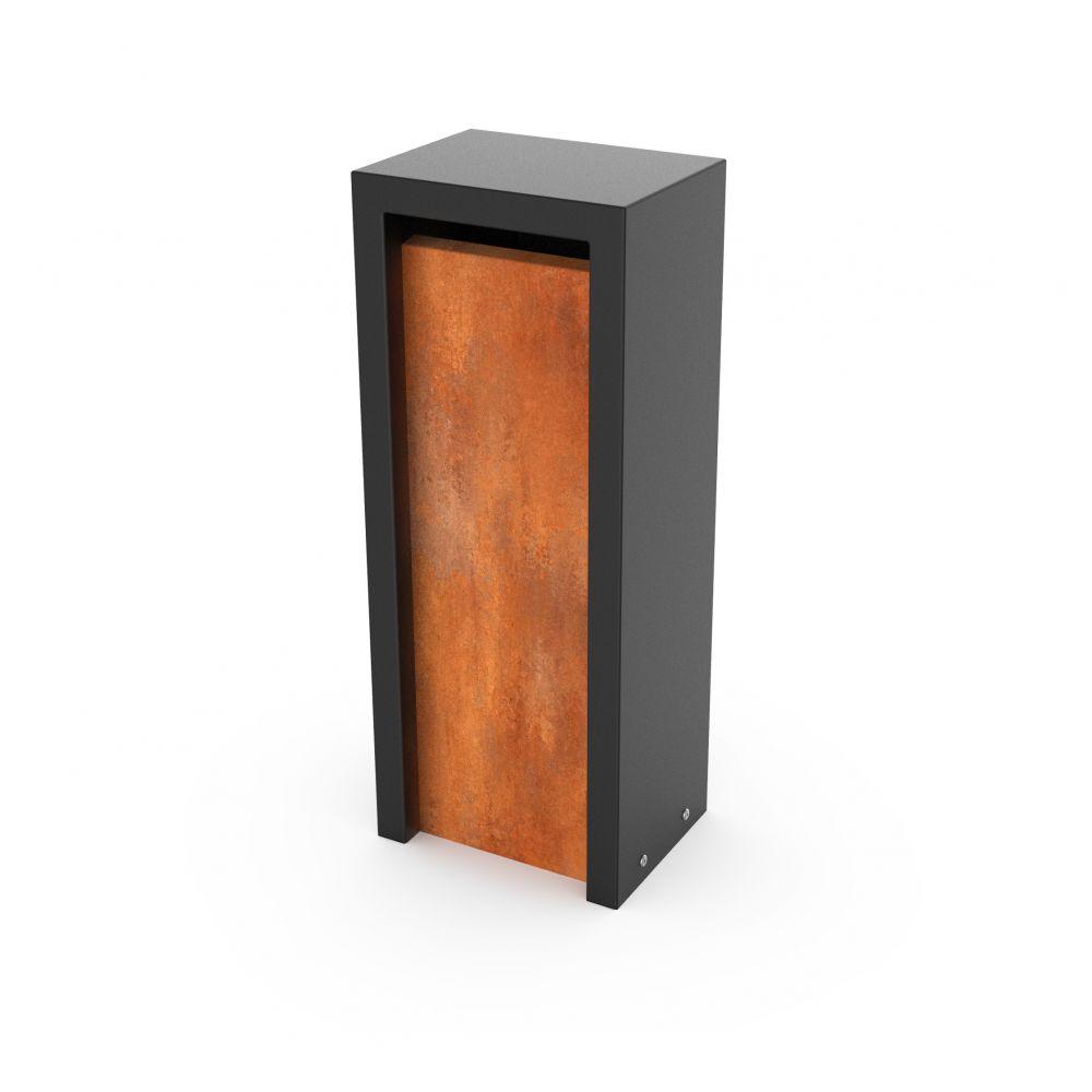 Geroba vrijstaande brievenbus Litru - Combo cortenstaal/zwart
