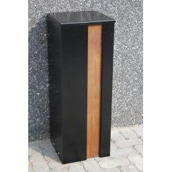 Geroba pakketbrievenbus Collu - Combo zwart/cortenstaal