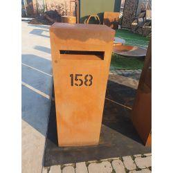 Geroba vrijstaande brievenbus Verma - Cortenstaal
