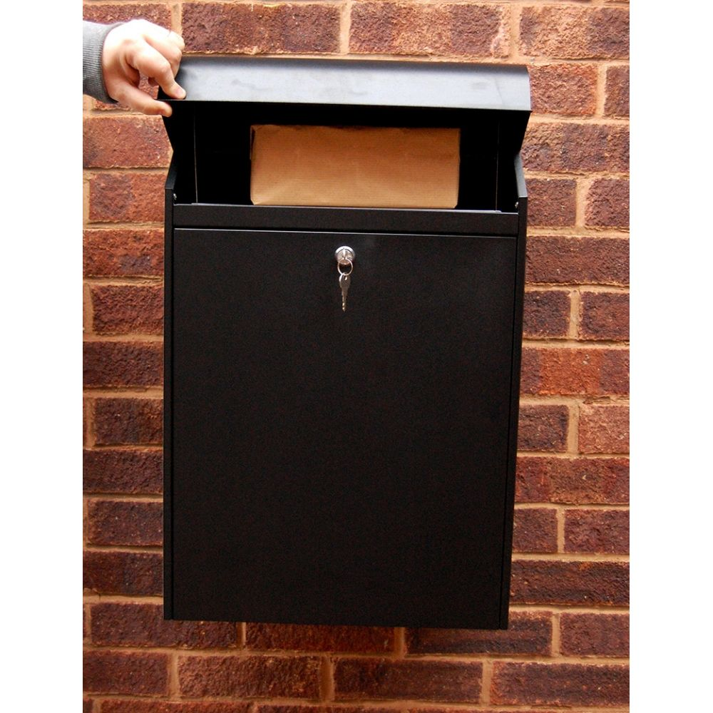 G2 pakketbrievenbus voor wandmontage - zwart