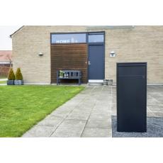 Pakketbrievenbus Allux 800 zwart - deurtje achterzijde