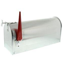 Amerikaanse brievenbus US Mailbox - aluminium zilver