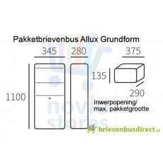 Pakketbrievenbus Allux Grundform antraciet