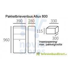 Pakketbrievenbus Allux 800 gegalvaniseerd