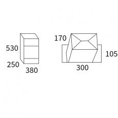 Pakketbrievenbus Allux 500 - antraciet