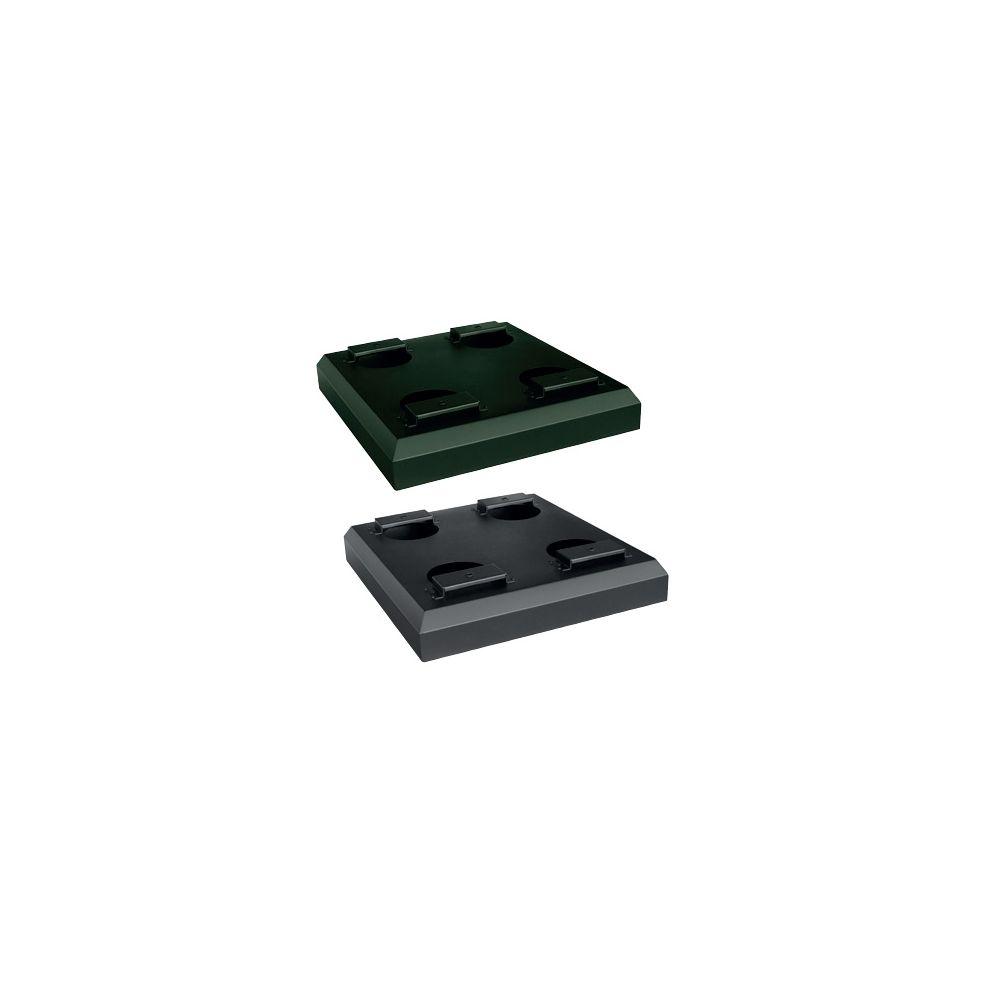 Bodemplaat voor verankering Intersteel pakket postkast - mat zwart