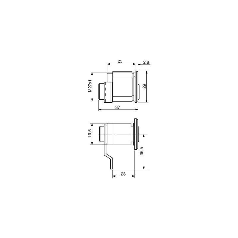 Storslåede Ruko 5-pins cylinderslot tbv Allux brievenbussen SZ95