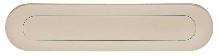 Intersteel Briefplaat ovaal met veer nikkel mat