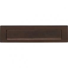 Briefplaat met klep/regenrand mat bruin