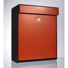 Design brievenbus Allux Grundform rood