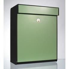 Design brievenbus Allux Grundform groen