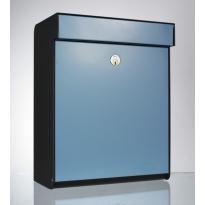 Design brievenbus Allux Grundform blauw