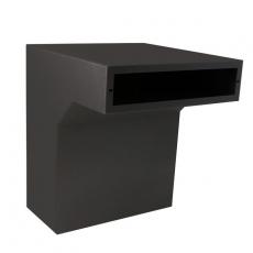 STOER! Flexibele postinbouwkast zwart 35-50cm