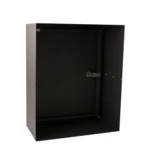 STOER! Post inbouwkast met deurtje - zwart 165mm