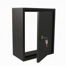STOER! Post inbouwkast met deurtje zwart