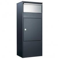 Pakketbrievenbus Allux 800 zwart/RVS