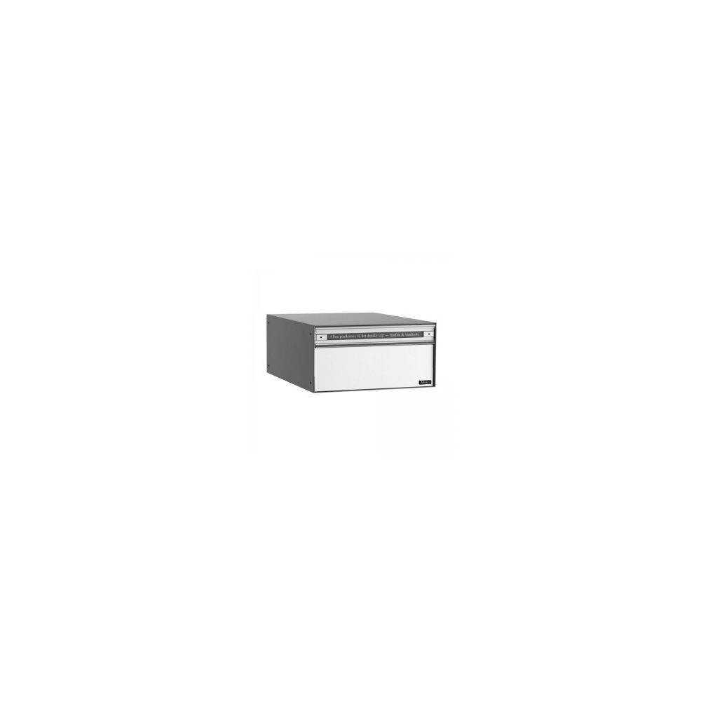 Systeembrievenbus Allux PC1 voor/achter alumiumgrijs RAL9006