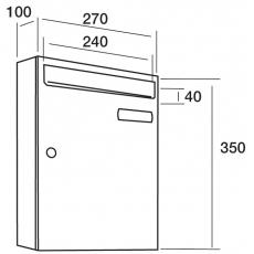 Joma brievenbussysteem verticaal Kompact V-270