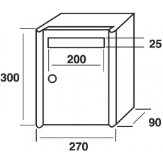 Joma brievenbussysteem verticaal Column V-270