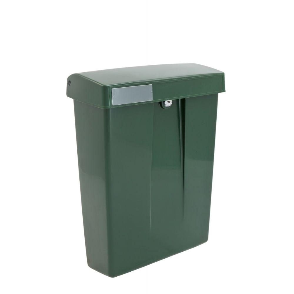 Kunststof brievenbus Summus groen RAL6009