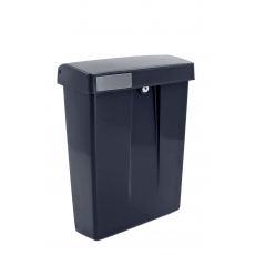 Kunstof brievenbus Summus zwart RAL9005