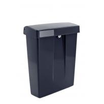 Kunststof brievenbus Summus zwart RAL9005
