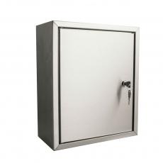 STOER! Post inbouwkast met deurtje - RVS 165mm