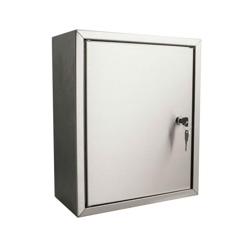 Stoer post inbouwkast met deurtje rvs 165mm - Roestvrijstalen kast ...