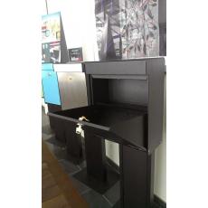 Design brievenbus Allux Grundform zwart